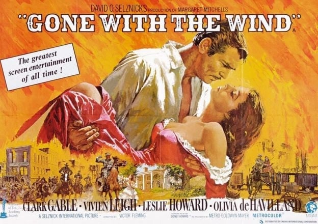 'Gone with the Wind 1939' Vivien Leigh Selznick International Pictures – CWR CRB